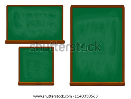Collection Empty Green Chalkboard Texture Hang On The White Wall Frame Wooden From Background Or