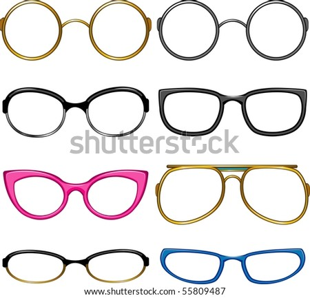 Collection glasses for every taste!. Simply dress them on the nose!