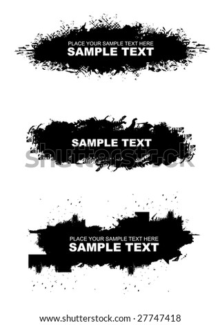 collection grunge banners, vector illustration