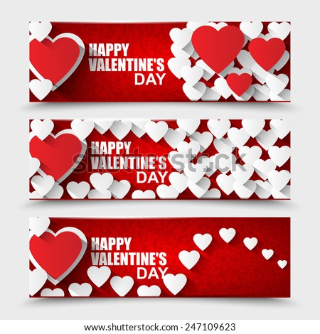 Collection Happy Valentines Day banners