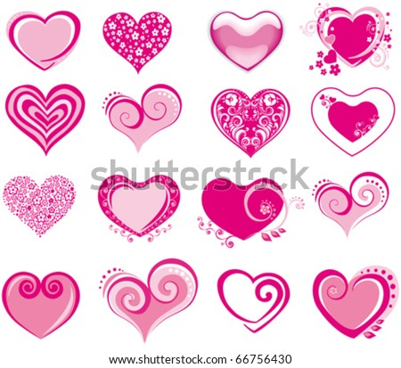 collection heart vector