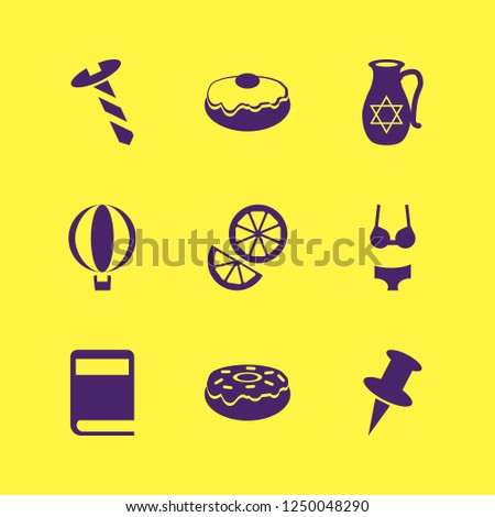 collection icon. collection vector icons set balloon, screw, doughnut and woman underwear