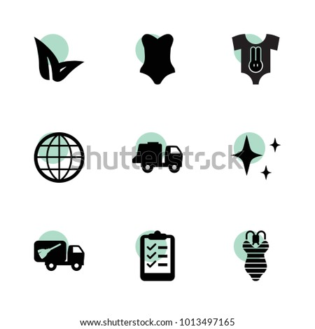 Collection icons. vector collection filled collection icons set.. includes symbols such as leaf, garbage truck, shine, list, globe. use for web, mobile and ui design.