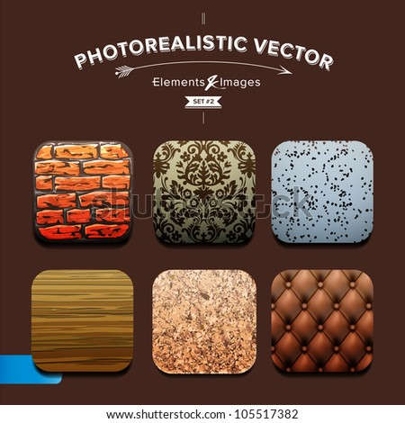 Collection Interior Design elements, Vector Eps10 set.