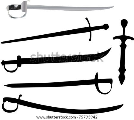 collection medieval weapons