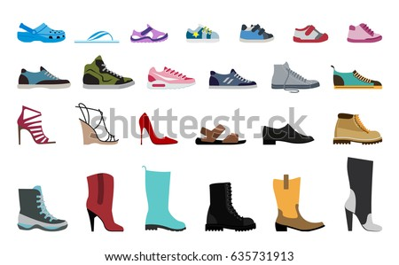stock-vector-collection-men-s-women-s-and-children-s-footwear-stylish-and-fashionable-shoes-sandals-and-boots