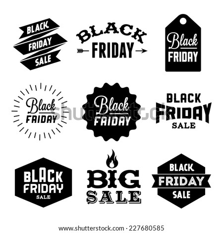 stock-vector-collection-monochrome-black-friday-label-badge-for-your-business-with-arrow-fire-ribbon