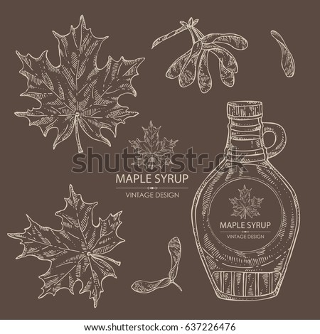 collection of a bottle of maple