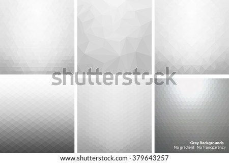 collection of abstract gray
