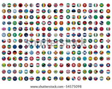 Collection of All The Flags of the Earth Vector #54575098