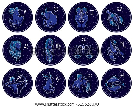 collection of all zodiac signs