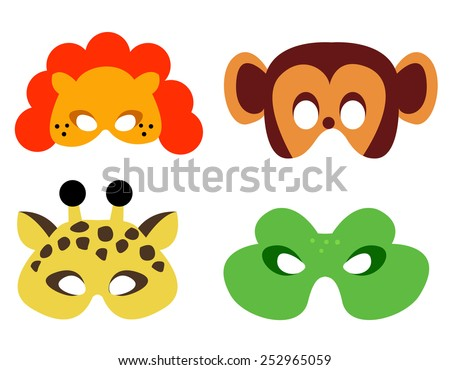 collection of animal masks with