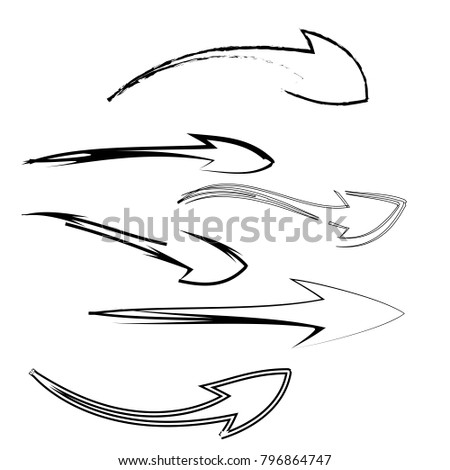 collection of arrow icon logo sign isolated background #796864747