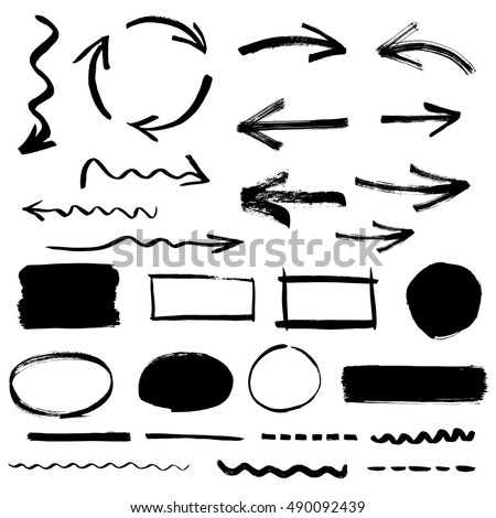 Collection of arrows and design elements