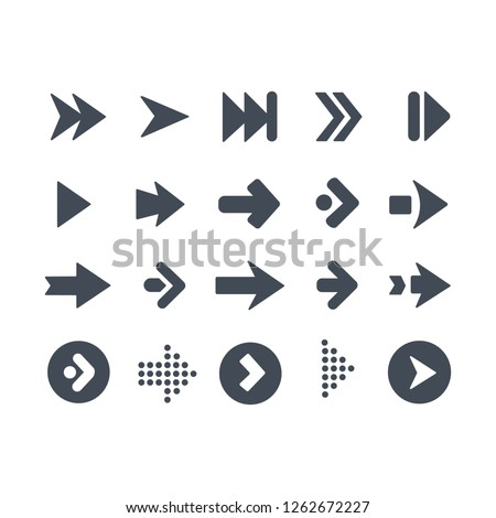 Collection of arrows symbol