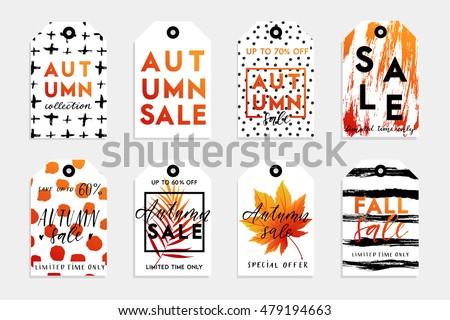 collection of autumn sale and