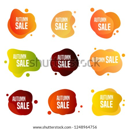 Collection of autumn sales buttons - to use to promote seasonal discounts