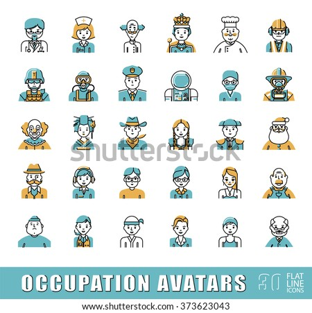 collection of avatar icons