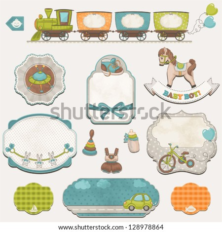 collection of baby boys symbols