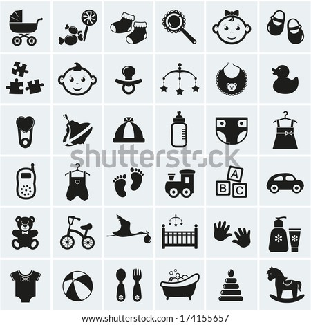 collection of 25 baby icons