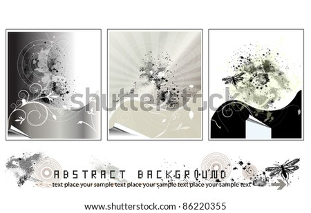Collection of Background - Vector Grunge Illustration