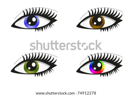 Collection of beautiful colored eyes