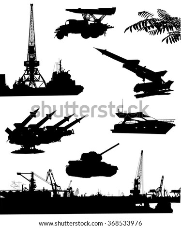 collection of black silhouettes