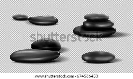 collection of black spa stones