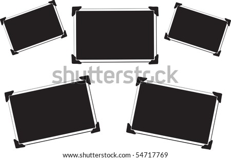 collection of 5 blank vector