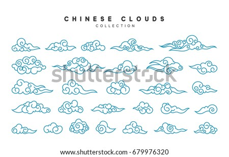 collection of blue clouds in...