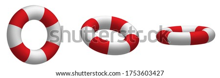 collection of boat lifebuoys in