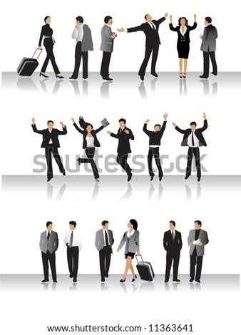 Collection of business peoples