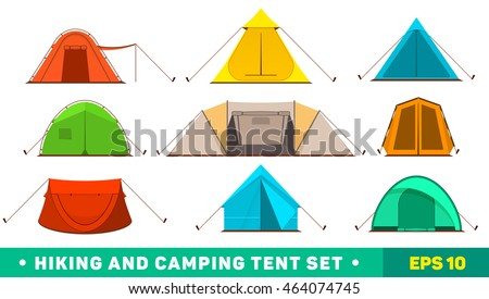 Collection of c&ing tent icons. C&ing tent set. Hiking and c&ing tent set.  sc 1 st  Vecteezy & Camping Tents - Download Free Vector Art Stock Graphics u0026 Images
