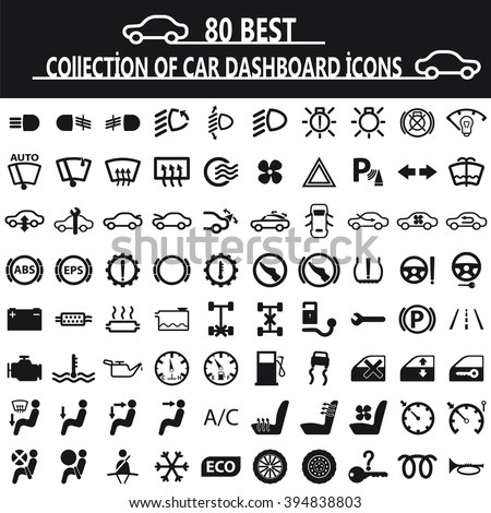 collection of car dashboard