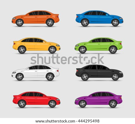 collection of car in different