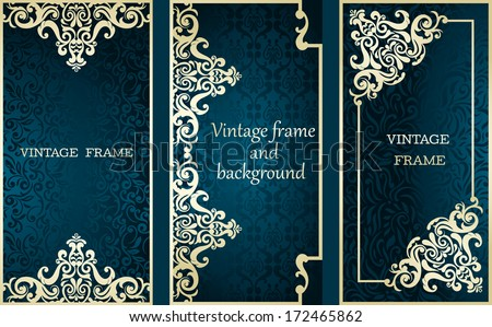 Collection of cards with vintage frames