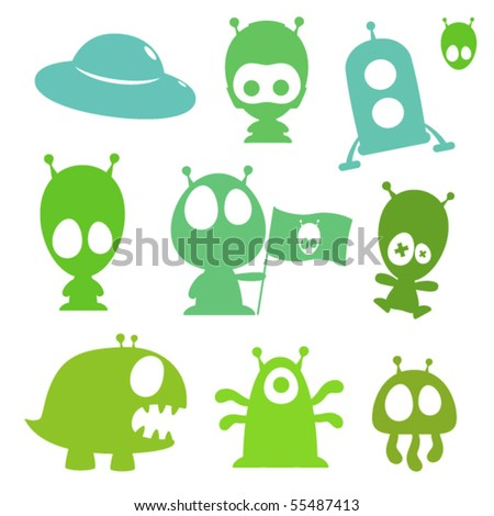 of cartoon aliens,