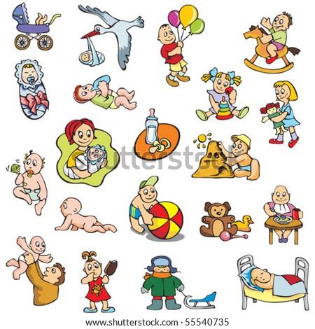 And children different activities vector illustration stock vector