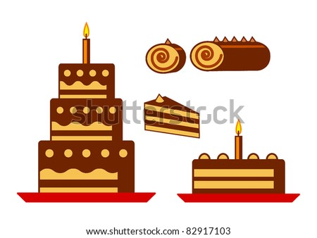 Collection of chocolate cakes
