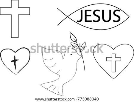 Christian Fish Symbol Icons Download Free Vector Art Stock
