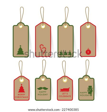 Collection of christmas card tag and label on paper with for Sd card label template