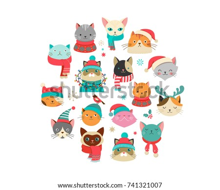 collection of christmas cats