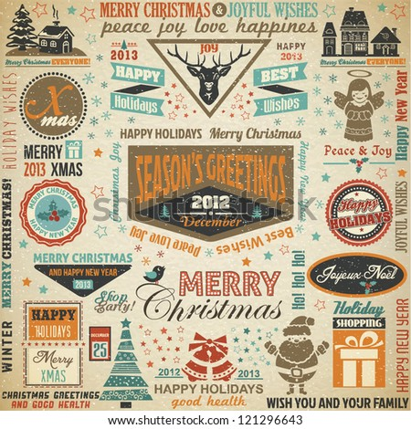 Collection of Christmas Design Elements.Vector Illustration