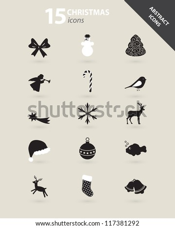 Stock Photo Collection of Christmas icons vector