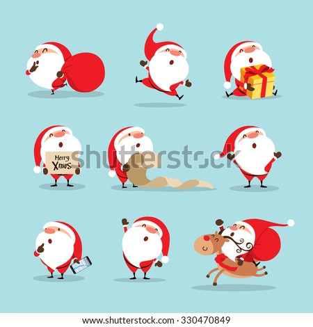 Shutterstock Collection of Christmas Santa Claus