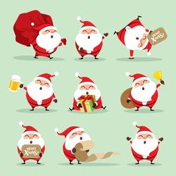 Collection of Christmas Santa Claus - set 1