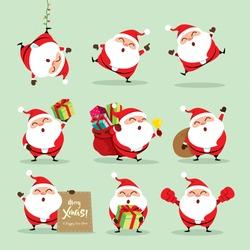 Collection of Christmas Santa Claus - set 2