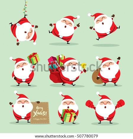 collection of christmas santa