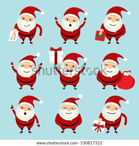 collection of christmas santa