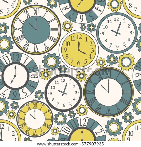 collection of clock  seamless...